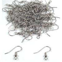 fecho da jóia do gancho de peixes venda por atacado-Ganchos cirúrgicos do brinco da bobina da bola de aço 18mm (200) 4E019
