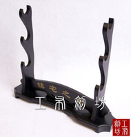 Wholesale Knife Japanese - Wholesale-House Treasure DIY Assembly Japanese Samurai Sword Katana Wakizashi Tanto Base Knife Rest Holder Stand Shelf Three Layer