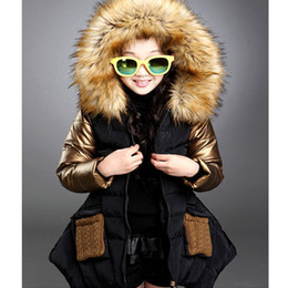 Wholesale Girls Yellow Jacket Coat - Wholesale-2015 Fashion Winter parkas girl clothing brand kid clothes children outerwear coats princess girls jacket children's wear GC17