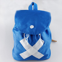 Wholesale One Piece Shoulder Bag - Wholesale-Japan Hot Anime ONE PIECE CHOPPER Backpack Shoulder Bag Canvas Blue Bags