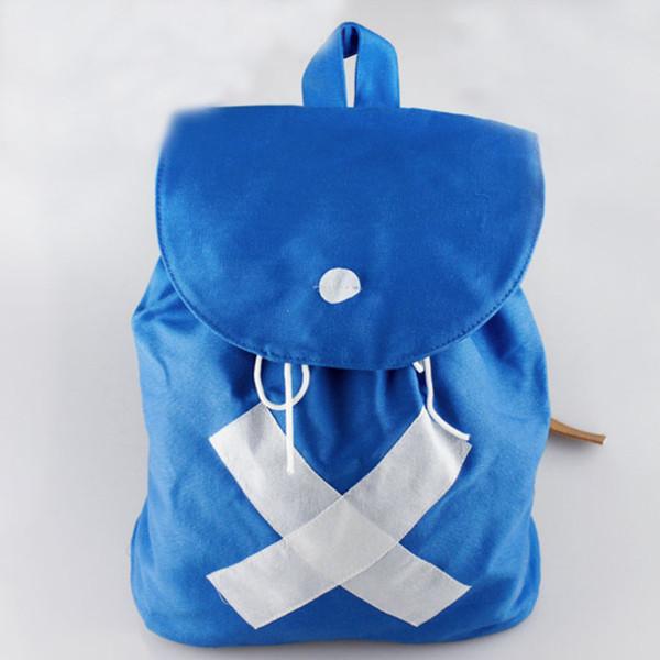Wholesale-Japan Hot Anime ein Stück chopper Rucksack Umhängetasche Leinwand blau Taschen