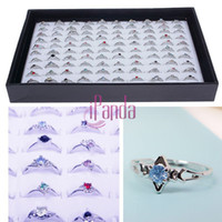 Hot Women Wholesale Lots 30pcs Rhinestone Assorted Silver Pl...