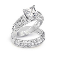 Victoria Wieck Princess cut Topaz Simulated Diamond 10KT Whi...