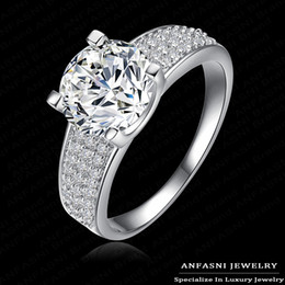 Wholesale African Jewelery - New Arrival High-end Engagement Rings 18K Gold  Platinum Plated AAA Cubic Zircon Unisex Rings Jewelery CRI0010
