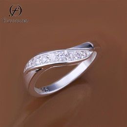 925 ring stamp 2019 - R159 2015 Wholesale top quality Brand Silver 925 Stamp new design finger ring crystal for lady unisex anel anillo anneau