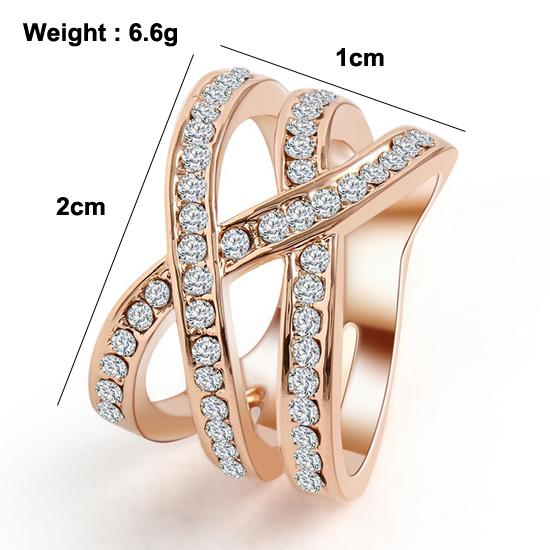 2015 Romantic Classic Luxury Net Weaving Crystal Ring Cubic Zirconia Ring Finger Rings Birthday Gifts Jewelry For Women 2015 M12