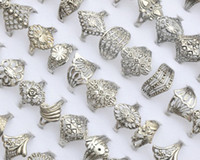 Wholesale African Jewellery Wholesalers - Wholesale 30Pcs Jewellery Bulks Lots Mixed Vintage Hollow Tibet Silver P Rings