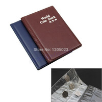 Wholesale Bamboo Albums - S103 120 Coin Holders Collection Storage Money Penny Pockets Album Book Collecting