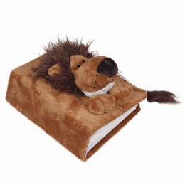 Hot Sale Baby Boy Girl Album Brown Lion Interleaf Type Children Cartoon Animal Soft Plush Cover Scrapbook Kids Gift