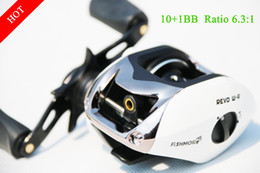 Wholesale Abu Spinning - 10+1BB White Left Right New Baitcasting fishing reel Samurai Oneway lure reel spinning reel for abu outdoor sports abu