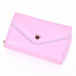 Wholesale Multi Propose Envelope - Free Shipping Women's Multi Propose envelope Wallet Purse handbag for Galaxy S2 S3 iphone 4 4S 5 Case,more colors#5337