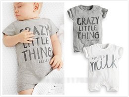 Wholesale Body Sets Brands - Baby Boys Sets Infant Short Sleeve Boys Clothes Baby Clothing Kids Body Suit Children One-Piece LTF001 Free Shipping