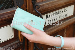 Wholesale Crown Pouch Flip - 2015 HOT Crown Wristlet Flip Leather Wallet Case Cover Pouch Purse For HTC One