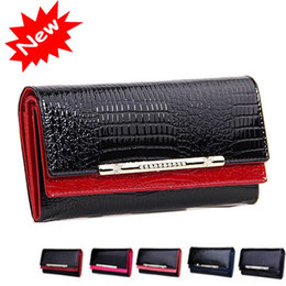 Wholesale Womens Purse Wallets Branded - Cowhide wallets New crocodile women wallet Genuine Leather designers brand women wallets lady Fashion clutch womens purses