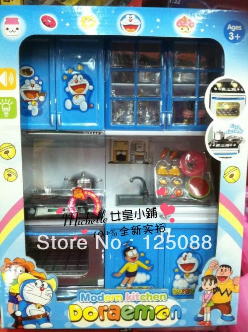 Plastic Play Kitchen 2017 new year gift plastic modern kitchen toy sets with sound &amp