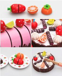 Wholesale Mother Garden Cake Set - Free Shipping!!Baby Toys Mother Garden Wooden Chocolate Cake Mix Set Wooden Kitchen Toys
