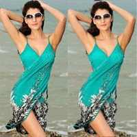 Sexy Sling Strand tragen Kleid Frauen sarong Sommer Bikini Cover-ups Wrap Pareo Röcke Handtuch Open-Back Bademode H23111