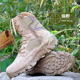 Wholesale Delta Desert Boots Black - U.S Delta Tactical boots hiking boots high help desert shoes Tan Black free shipping Wholesale and retail