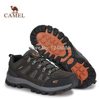 Wholesale New Rock Climbing - New autumn men's outdoor hiking shoes non-slip breathable leather rock climbing shoes men's camel mountain shoes B096