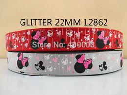 Wholesale Animal Grosgrain Ribbon 22mm - 50Y12862 kerryribbon free shipping 7 8'' (22mm) glitter cartoon printed ribbon Grosgrain ribbon diy headwear accessories 2 color