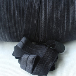 """Wholesale fold over elastic free shipping - 22mm 7 8""""solid foe #030 Black Fold Over Elastic 100 yards elastic hair ties free shipping,accept custom print"""