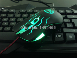 Wholesale Souris Mini - Wholesale-brand raton optical usb wired mous 2400DPI 6600fps 1000Hz professional gaming souris para PC mice with mouse pad of 2.99 dollar