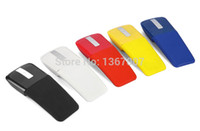 Wholesale Touch Flat Mouse - Wholesale-Free Shipping 2.4GHz Wireless Optical Mouse Foldable Flat Arc Touch Scroll Mouse with USB Adaptor for Computer Laptop PC