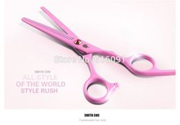 Wholesale Dress Scissors - Wholesale-6.0 Hair dressing scissors 6CR, 61HRC ,Pink clolor scissors,straight & Thinning cutting,XK15,Free shipping