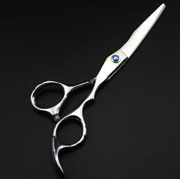 Wholesale Hairdressing Scissors Titanium - Wholesale-profissional Handmade titanium 6.0 inch hair scissors cutting Thinning hairdressing scissors shears set styling tools Free Ship