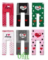Wholesale Yuelinfs Pants - wholesale 18pcs lot free shipping P Group I LOVE PP & I LOVE MAMA Yuelinfs pp pants cotton baby legging