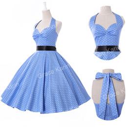 Wholesale Pinup Plus - Cheap Women Summer Style plus size Retro Vintage Polka Dots 50s 60s Rock Roll ROCKABILLY Swing Pinup Dress vestidos femininos
