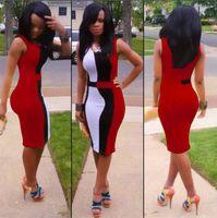Wholesale Club Dresses Wholesalers - SJ1083-2 new 2015 lady's sexy women summer plus size patchwork party bandage club bodycon dress bodysuit dresses