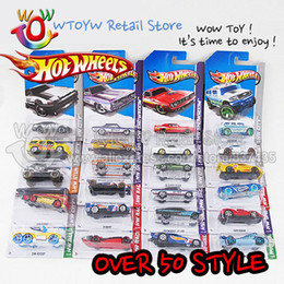 Wholesale Hotwheels Cars - 5pcs lot free shipping Over 50 styles 7.5 cm hotwheels hot wheels scale model action figures super color car blister gift box
