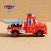 Wholesale New Engine Wholesale - TOMY TOMICA C-35 1 55 Scale Pixar Cars 2 Toys Fire-engine Version Tow Mater Fire Truck Diecast Metal Pixar Car Toy New In Box