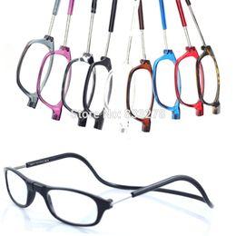 Argentina venta al por mayor nueva llegada ajustable conectar frontal lectores lectura gafas de moda de los hombres gafas de lectura magnética diseño de marca de las mujeres Suministro