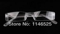 gafas de lectura sin aro para mujer al por mayor-Gafas de lectura CALIENTE sin montura de plástico +1.0 +1.5 +2.0 +2.5 +3.0 Gafas de lectura claras mujeres y hombres + Estuche de gafas