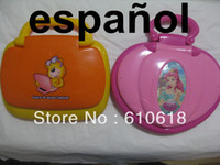 Wholesale Computer Toys Spanish - New Style Spanish + English Learning Machine Computer Laptop Educational Study Toys For Children Best Gifts 1 Pcs