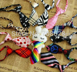 Wholesale Cat Ties - 50PC Lot Colorful Pet Dog Neckties Bowties Dog Cat Bow Ties Grooming Product 27Colors