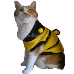 Wholesale Dog Dressed Bumble Bee - Dog Cat Pet Supplies Lovely Bumble Bee Dress Up Costume Apparel Coat Clothes K5B