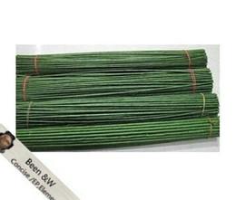 Ronde fiore materiale lavoro manuale fai da te 2 # 2mm 40cm lunghezza pacco di carta pacchi verdi con filo gambo fiore artificiale (100 pz / lotto) da fiori di seta galleggianti all'ingrosso fornitori