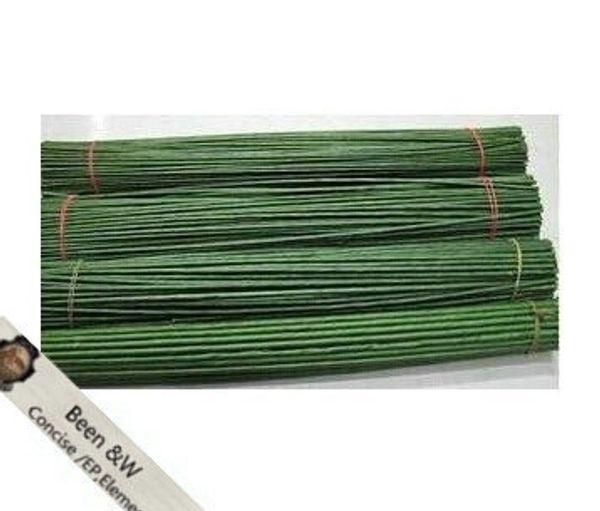 Ronde çiçek Malzeme İşi DIY 2 # 2mm 40 cm uzunluk kağıt parsel yeşil pachets tel yapay çiçek ile kök (100 adet / grup)