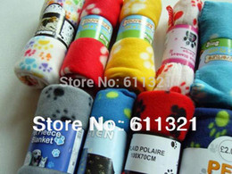 Wholesale Wholesale Paw Print Towels - New Hot Sell Cute Soft Warm Towel Paw Prints Pet Puppy Dog Cat Fleece Blanket Mat Pad Cushion for Dogs Cats 60x70cm V3290