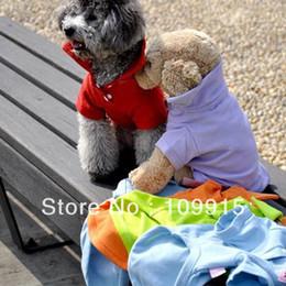 Wholesale Ship Dropping Wholesale Dog Apparel - Drop shipping Cute Pet Dog Apparel Dog POLO Cool Puppy T-Shirts Clothes Size XS S M L LX0058