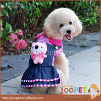 Wholesale Low Price Pet Products - Free shipping pink pet clothing dog clothes dog jeans overalls for small dogs pet products wholesale S size low price