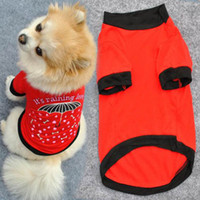Wholesale Dog Umbrella Free Shipping - Pet Dog Cotton Blend T-shirt Clothes Umbrella Pattern Puppy Coat Free Shipping