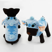 Wholesale Life Sized Dogs - Dog Puppy Clothes Adorable Stitch Pet Dog Clothes Costumes Soft Coat Hoodie 5 Sizes Pet Apparel dog life vest clothes dog