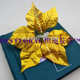 Wholesale Decorative Flowers Prices - 2015 Real New Decorations Christmas Flower Head 10PCS Single Poinsettia Cheaper Price Winter Festival Decoration Decorative