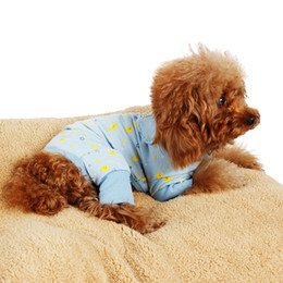 Wholesale Dogs Wearing Cute Costumes - Dog Jumpsuit Pink Blue Dog Clothes Pet Clothes Dog Costume Lovely Product Puppy Wearing Cute Dog 4 Sizes 2 Colors Free Shiping