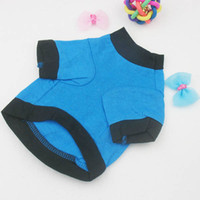 Wholesale Wholesale T Shirts Dropshipping - Pet Clothes Dog Puppy Blue T-shirt Cat Coat With Black Skull Pattern Free&DropShipping