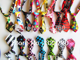 Wholesale Colour Cute - Free shipping Adjustable pet cat dog Bow necklace Tie Necktie Neck Collar Cute gift mix colours